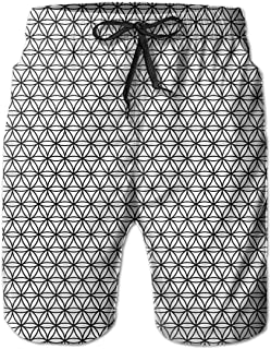 Shakumen Different Transport Mens Beach Shorts Breathable Swimming Trunks with 3 Pockets