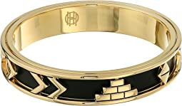 House of Harlow 1960 - Aztec Bangle with Black Leather