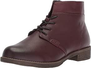 Propet Women's Tatum Lace Bootie Ankle Boot, Rich Burgundy, 7H 2E 2E US