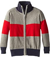Toobydoo - Block Stripe Zip Sweater (Toddler/Little Kids/Big Kids)