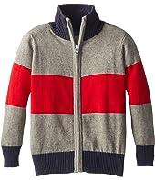 Toobydoo - Block Stripe Zip Sweater (Toddler/Little Kids/Big Kids)