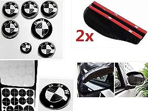 Black & White Carbon Fiber Complete Set of Vinyl Sticker Overlay for All BMW Emblems