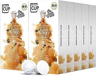 My Tea Cup - TEEKAPSELN CHARM OF CHAI 10 x 10 KAPSELN I BIO-KRÄUTERTEE I 100 Kapseln für Nespresso³-Kapselmaschinen I 100% industriell kompostierbare & nachhaltige Teekapseln – 0% Aluminium