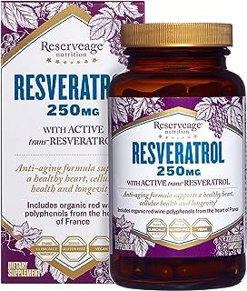 ReserveAge Nutrition, Resveratrol, With Active Trans-Resveratrol, 250 mg, 120 Veggie Capsules