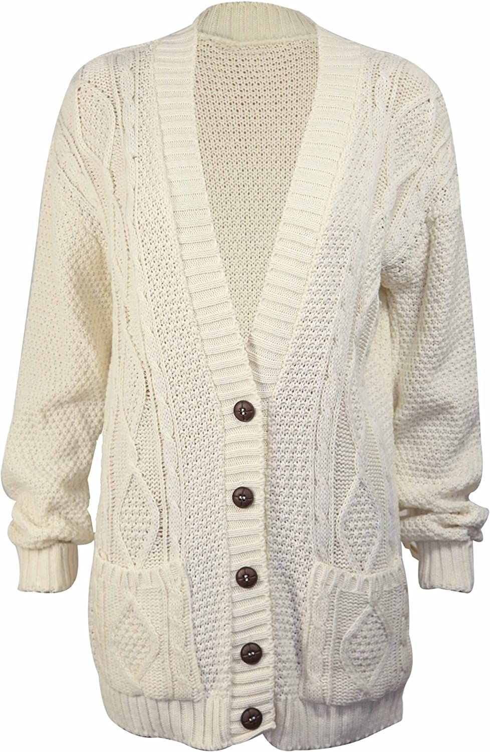 Women's Long Sleeve Cable Knit Chunky Cardigan