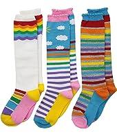 Rainbow Triple Treat Knee High 3-Pack (Toddler/Little Kid/Big Kid)