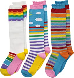 3464d158b 34. Jefferies Socks. Rainbow Triple Treat Knee High 3-Pack (Toddler Little  Kid Big ...