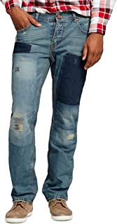 Standard & Grind Men's Relaxed Fit Jeans Process with Patch