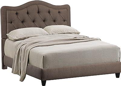 Amazon Com Skyline Furniture Velvet King Tufted Wingback Bed Aubergine Kitchen Amp Dining