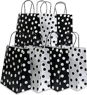 Assorted bright color Kraft paper gift bags, medium, set of 16 bags, 8
