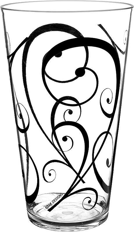 Zak Designs Urbana 24 Oz Tumbler Black White 6 Piece Set