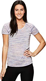 RBX Active Women's Space Dye Short Sleeve Yoga T-Shirt