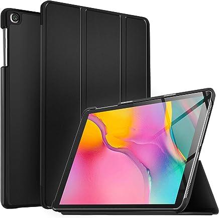 IVSO Custodia Cover per Samsung Galaxy Tab A 10.1 2019, Slim Smart Protettiva Custodia Cover in Pelle PU per Samsung Galaxy Tab A T515/T510 10.1 2019, Nero