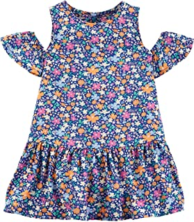 OshKosh B'Gosh Baby Girl Cold Shoulder Floral Dress Size 24M