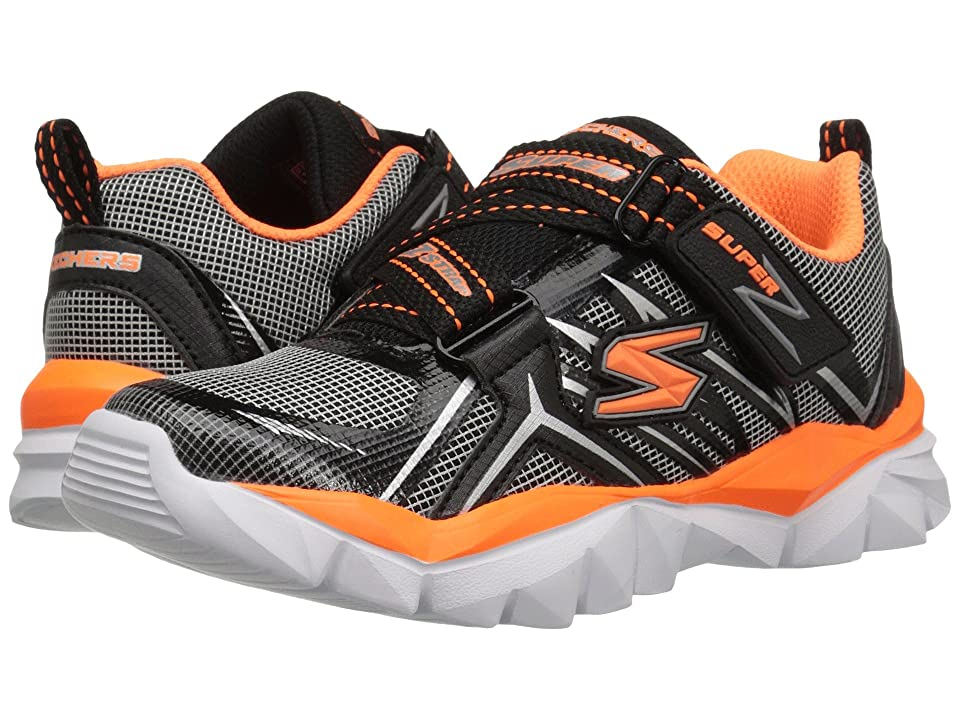SKECHERS KIDS Electronz (Little Kid/Big Kid) (Black/Orange) Boy