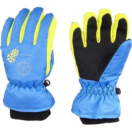 rethyrel Verdicken Kinder Winter warme Handschuhe Winddichte Skihandschuhe rutschfeste warme Schneehandschuhe wasserdichte warme Handschuhe zum Skifahren Snowboarden
