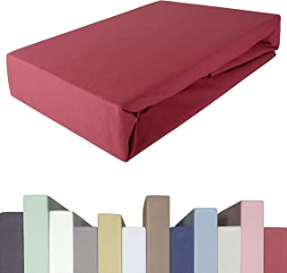 Edda Lux Drap-housse pour surmatelas | Qualité premium 190 g/m² | 95 % coton + 5 % élasthanne | Lit à sommier tapissier | ...