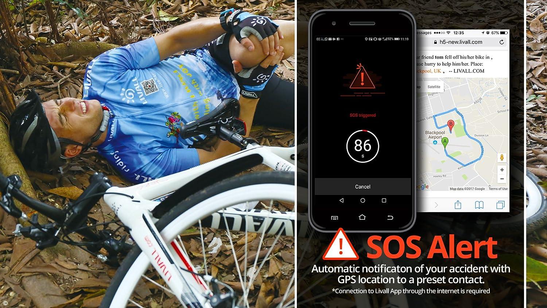 Livall MT1 Smarter Fahrradhelm mit SOS-Alarm und LED-Licht-System sowie Multimedia Einheit