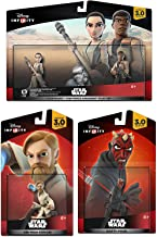 Star Wars: The Force Awakens Play Set: Finn, Rey 2-Pack Darth Maul & Obi-Wan Kenobi Character Figure combo 4-Pack All New Game