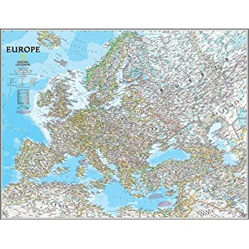 National Geographic S Executive Europe Map Wall Mural Self Adhesive Wallpaper In Various Sizes By Magic Murals Amazon Com