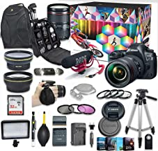 Canon EOS 5D Mark IV DSLR Camera Video Kit with Canon EF 24-105mm f/4L is II USM Lens + Wide Angle Lens + 2X Telephoto Lens + Flash + SanDisk 32GB SD Memory Card + Accessory Bundle