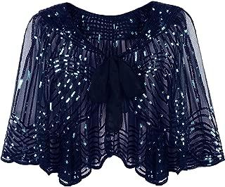 1920s Vintage Style Cape Jacket Embellished Bridal Shawl Capelet Flapper Bolero Cover Up Gatsby Party