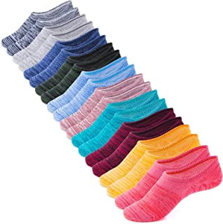 Women's and Men's Socks 10 Pairs Low Cut Anti-Slid...