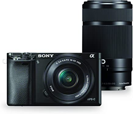 $749 Get Sony Alpha a6000 Mirrorless Digital Camera w/ 16-50mm and 55-210mm Power Zoom Lenses (Renewed)
