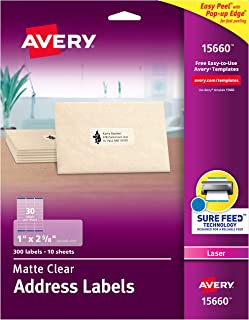 clear avery label