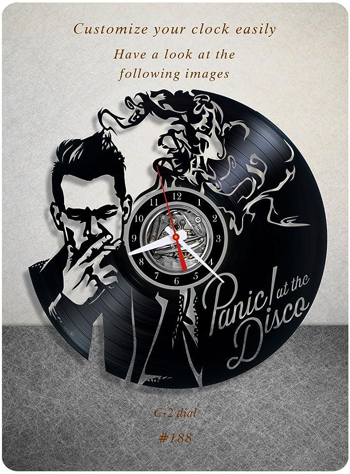 Panic! at the Disco vinyl clock, vinyl wall clock, vinyl record clock pop rock punk brendon urie wall art home decor kids gift 188 - (c2)