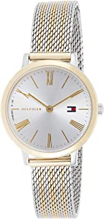 Tommy Hilfiger 1782055 Womens Quartz Watch, Analog Display and Stainless Steel Strap, White