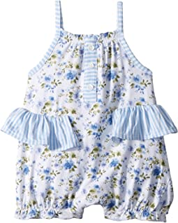 Mud Pie - Floral Ruffle Bubble (Infant)