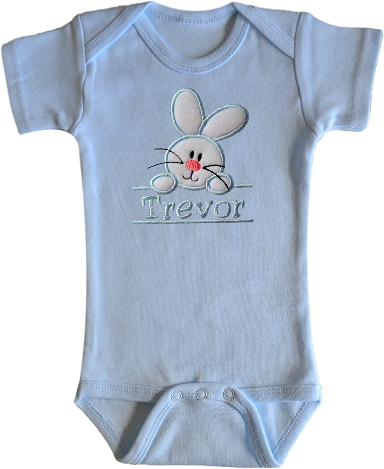 Excellence Embroidered EASTER Max 73% OFF Bunny Bodysuit for Baby Custom - Your Na BOYS