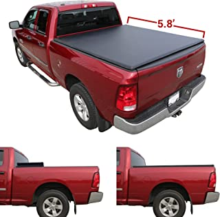 4 Piece Set Galaxy Auto Fender Flares for 2019-20 Dodge Ram 1500 - Pocket Riveted Style in Paintable Smooth Matte Black Excluding Classic Models