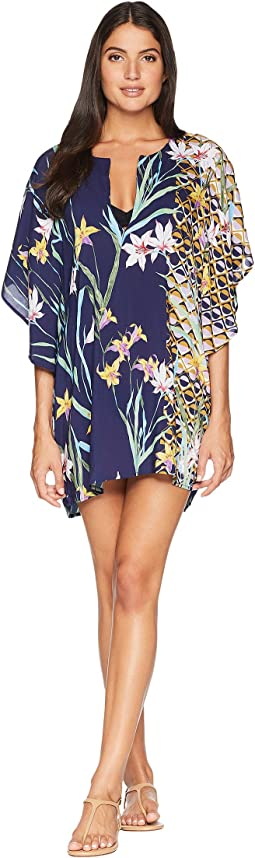 Fiji Floral Mix Caftan Cover-Up