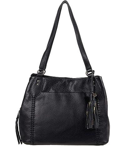The Sak Melrose Satchel (Black) Handbags