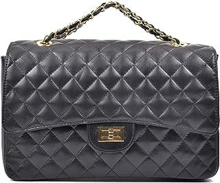 Carla Ferreri Black Flap Bag For Women