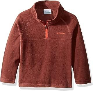 Columbia Little Boys' Glacial Fleece Half Zip Jacket, Red Rocks, State Orange, Small