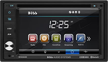 BOSS Audio BV9362BI Car DVD Player – Double Din, Bluetooth Audio and Calling, 6.2