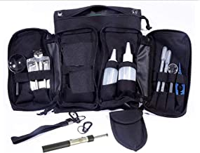 VAS 19 PC Prospectors Gold Panning Essentials Set Kit   Molle Bag   Magnetic Separator   Snifter Bottles   Trowel   Adults   Kids   Beginners Too!   Equipment for Metal Detecting & Gold Panning