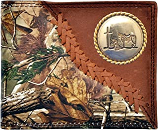 Custom Badger Praying Cowboy Church Long Rodeo Wallet Hand Tooled