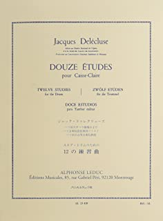 Jacques Delecluse: 12 Etudes for Snare Drum (French Edition)