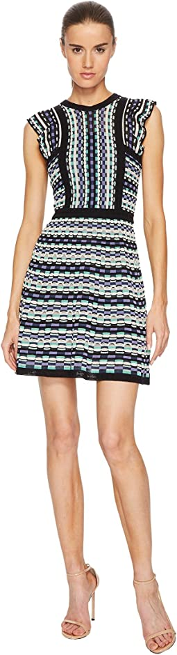 M Missoni - Colorful Check Dress with Ruffle