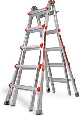 Little Giant Ladders, Super Duty, M22, 22 foot, Multi-Position Ladder, Aluminum, Type 1AA, 375 lbs weight rating, (10403)