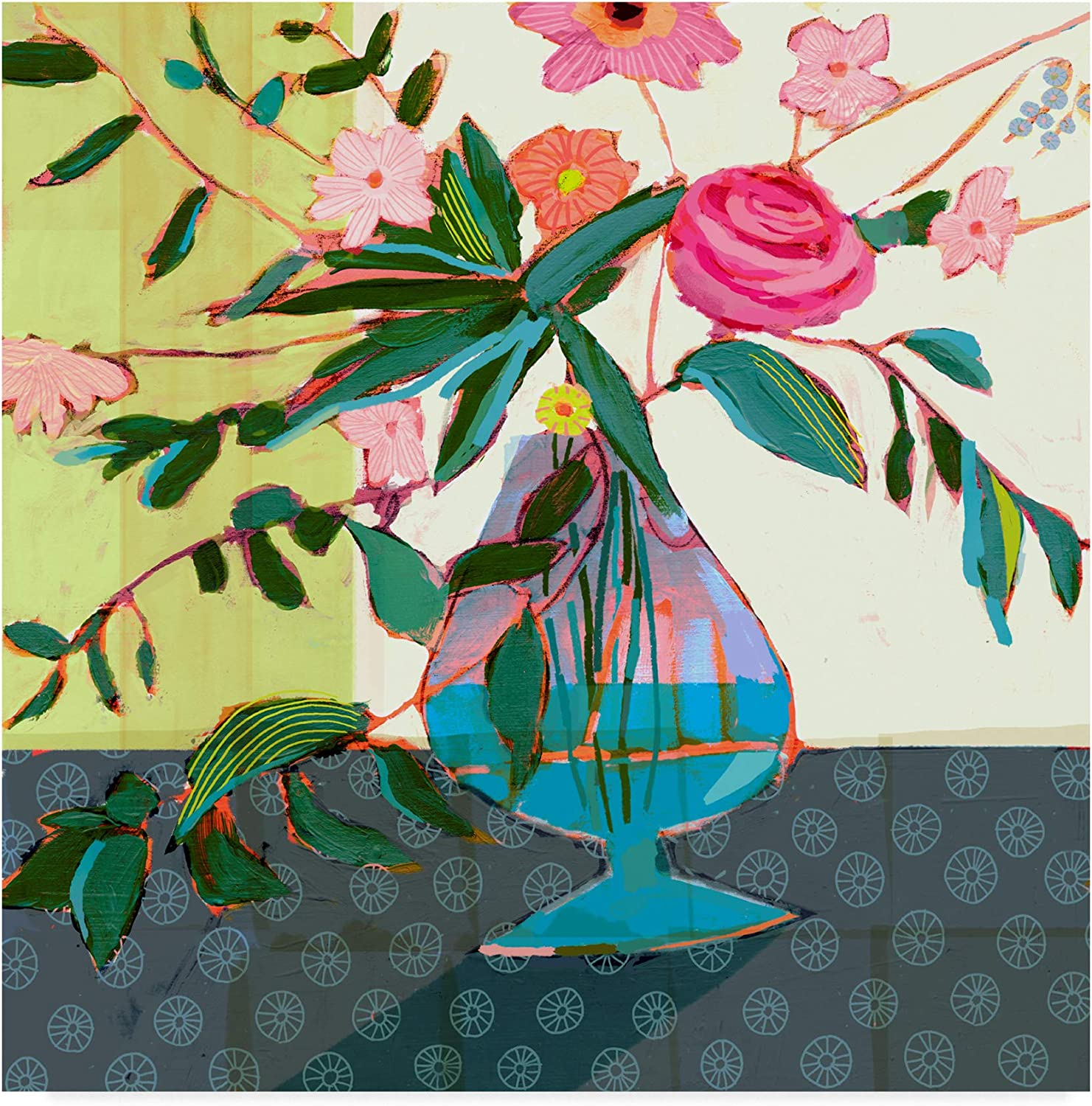 Trademark Fine Art Fanciful Flowers II by Victoria Borges, 14x14