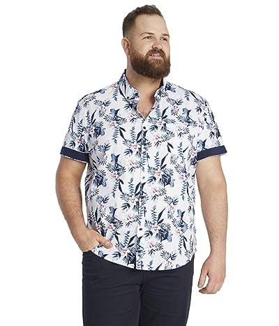 Johnny Bigg Big Tall Jaffar Print Shirt (White) Men