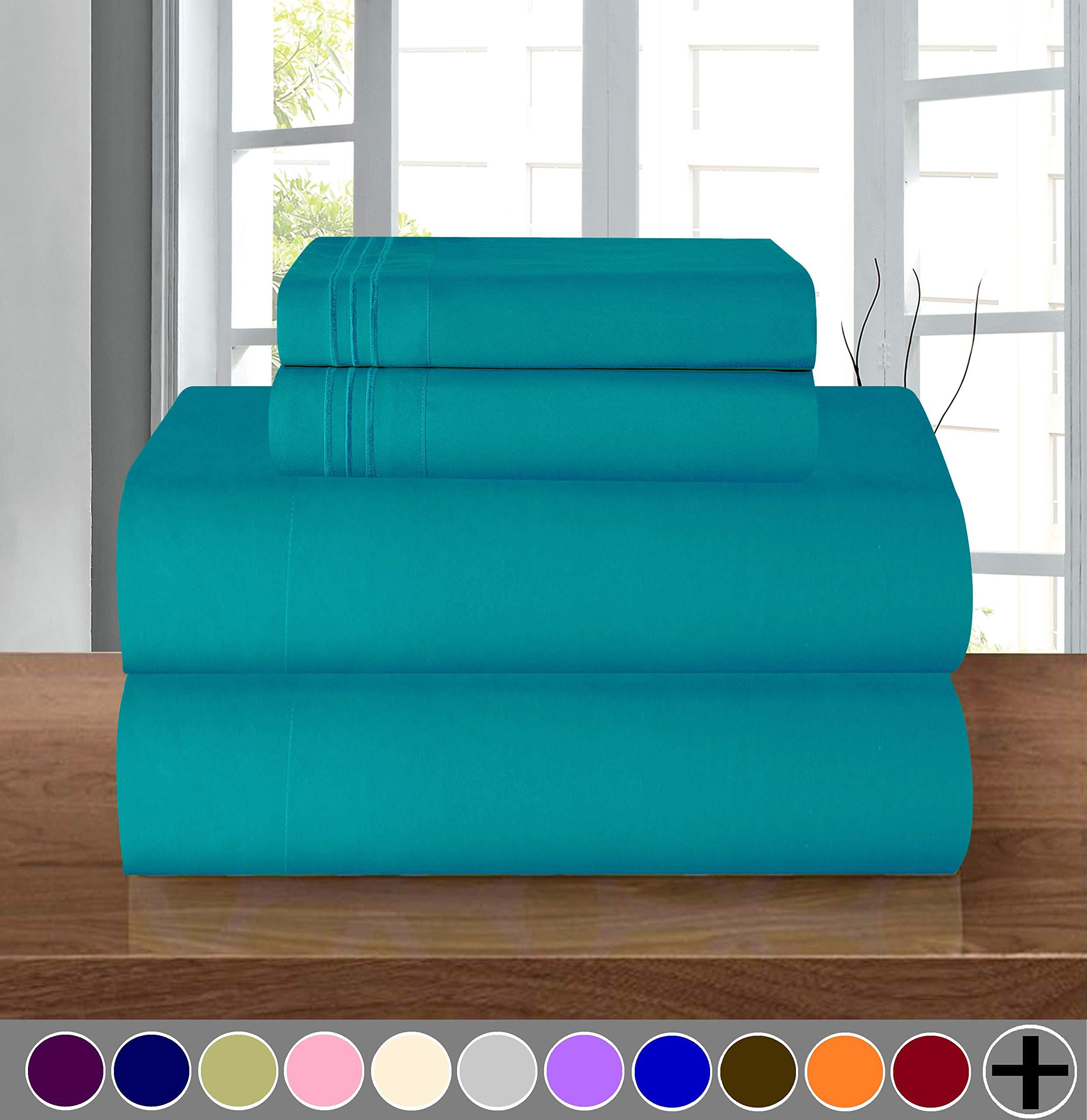 Elegant Comfort Egyptian Resistant Turquoise