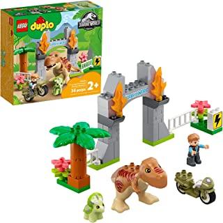 LEGO DUPLO Jurassic World T. rex and Triceratops Dinosaur Breakout 10939 هدیه اسباب بازی ساختمان برای طرفداران دایناسور جوان ؛ جدید 2021 (36 قطعه)