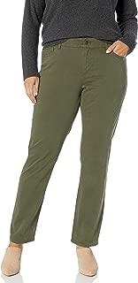 Women's Plus Size Straight Bi-Stretch Twill-Pant