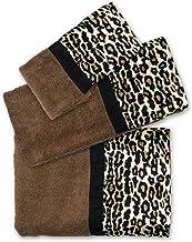 SERENDIPITY PINK,BLACK,WHITE COTTON LEOPARD PATTERN ANIMAL PRINT BATH TOWEL